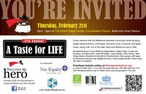 A Taste For Life 2013 Invite