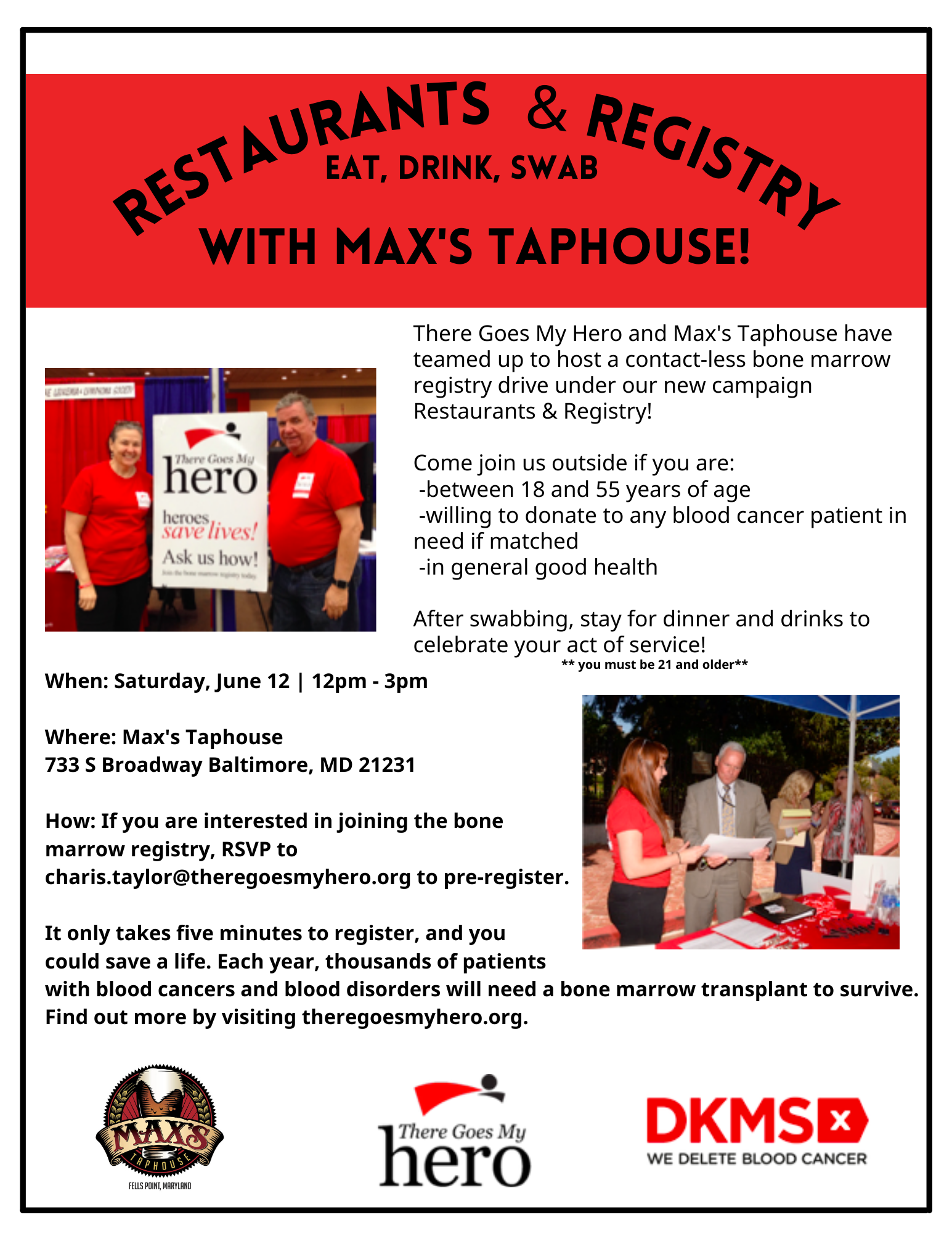 Max's Taphouse Registry Drive